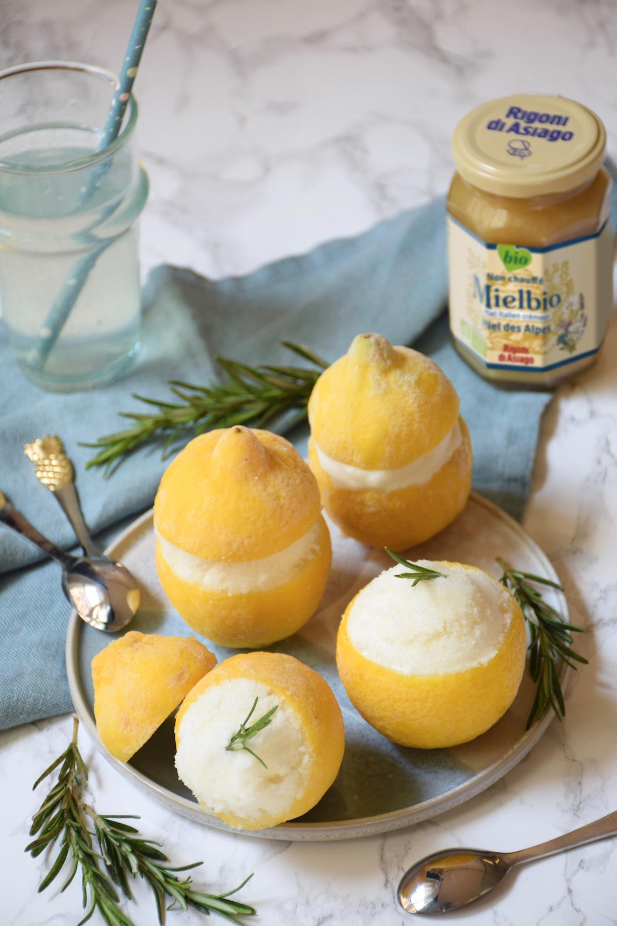 citrons givrés miel romarin