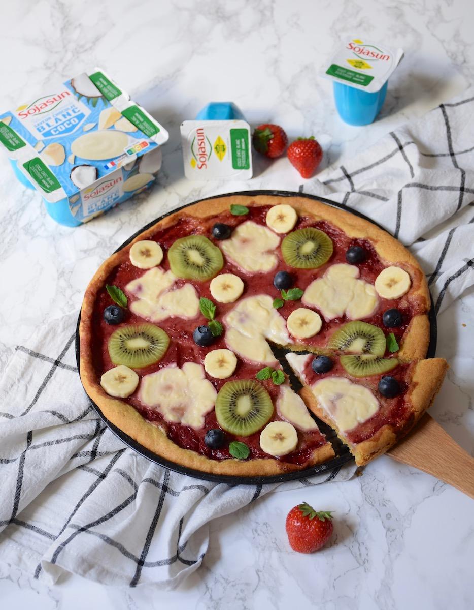 Pizza aux fruits et pâte pizza cookie