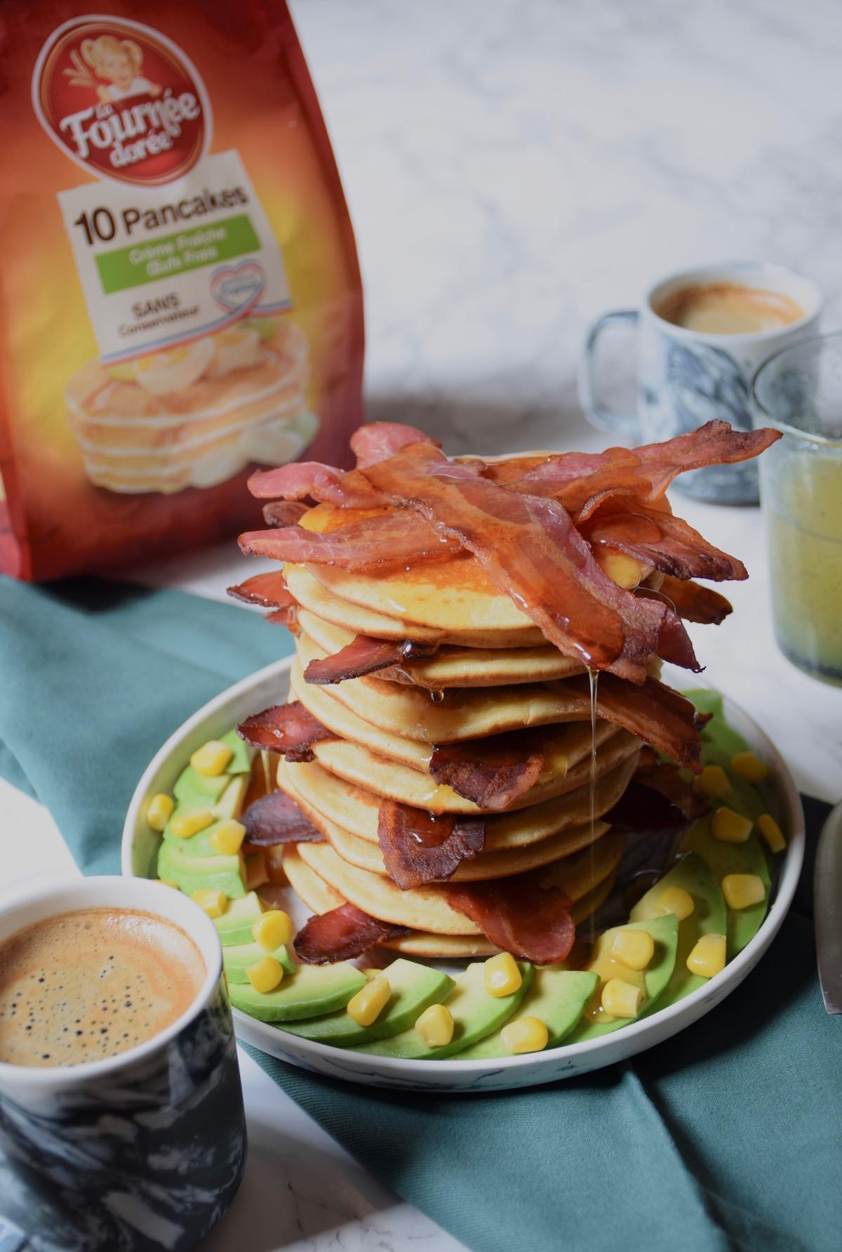 Brunch - Pancakes, bacon & sirop d'érable