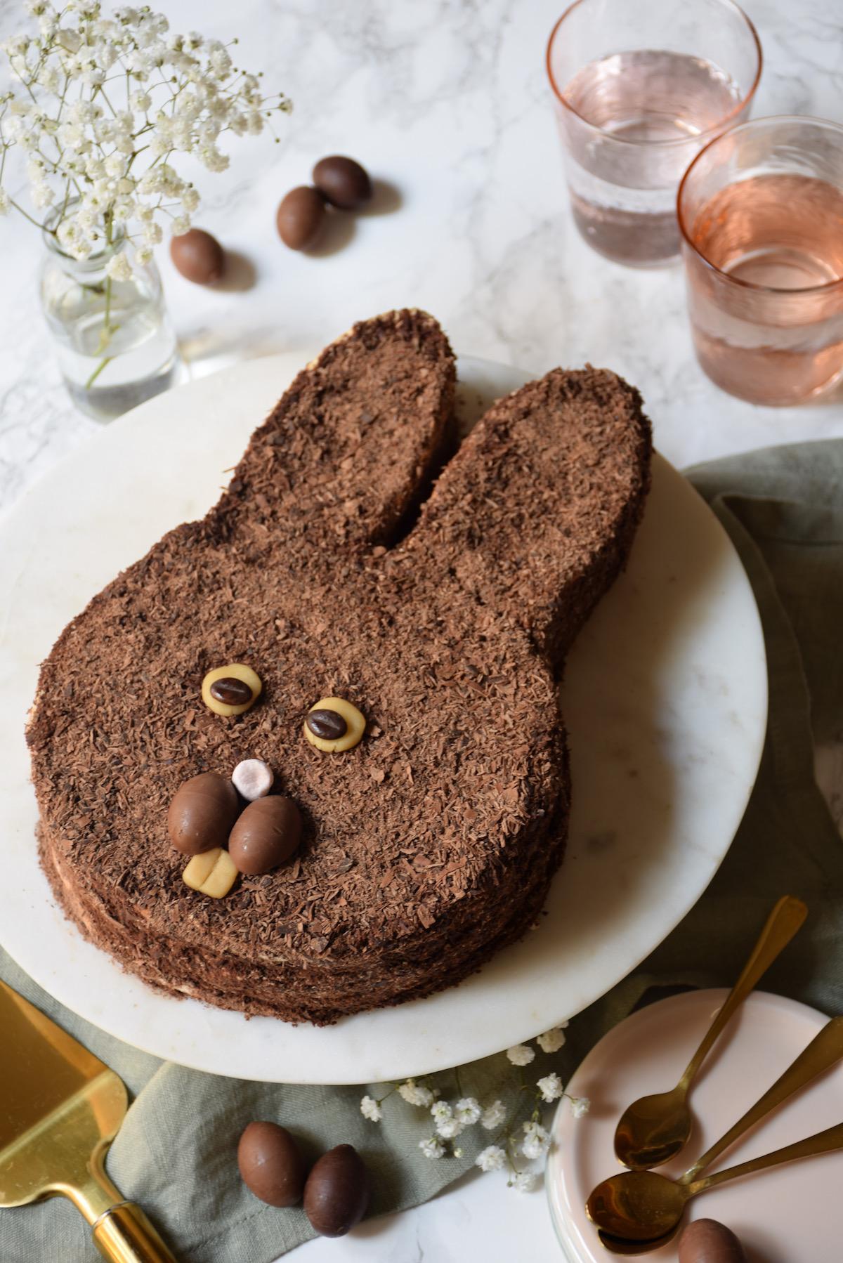 gâteau merveilleux lapin de Pâques