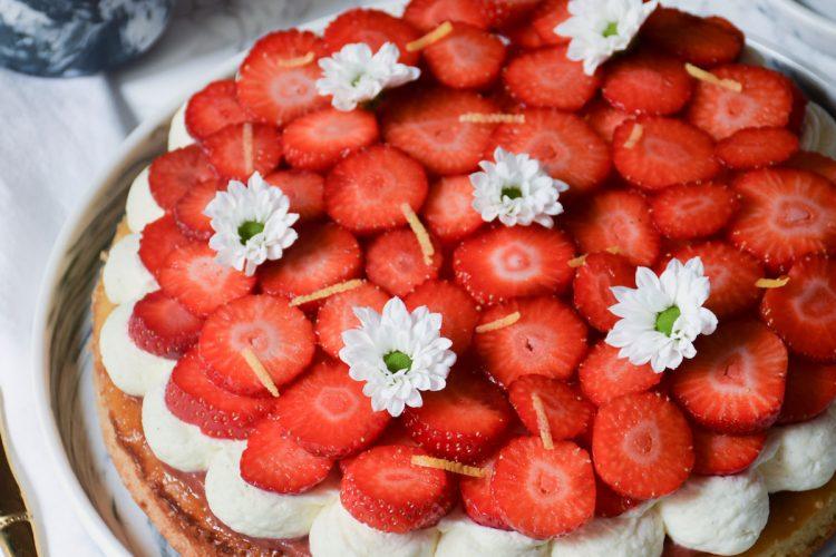 tarte brioche aux fraises