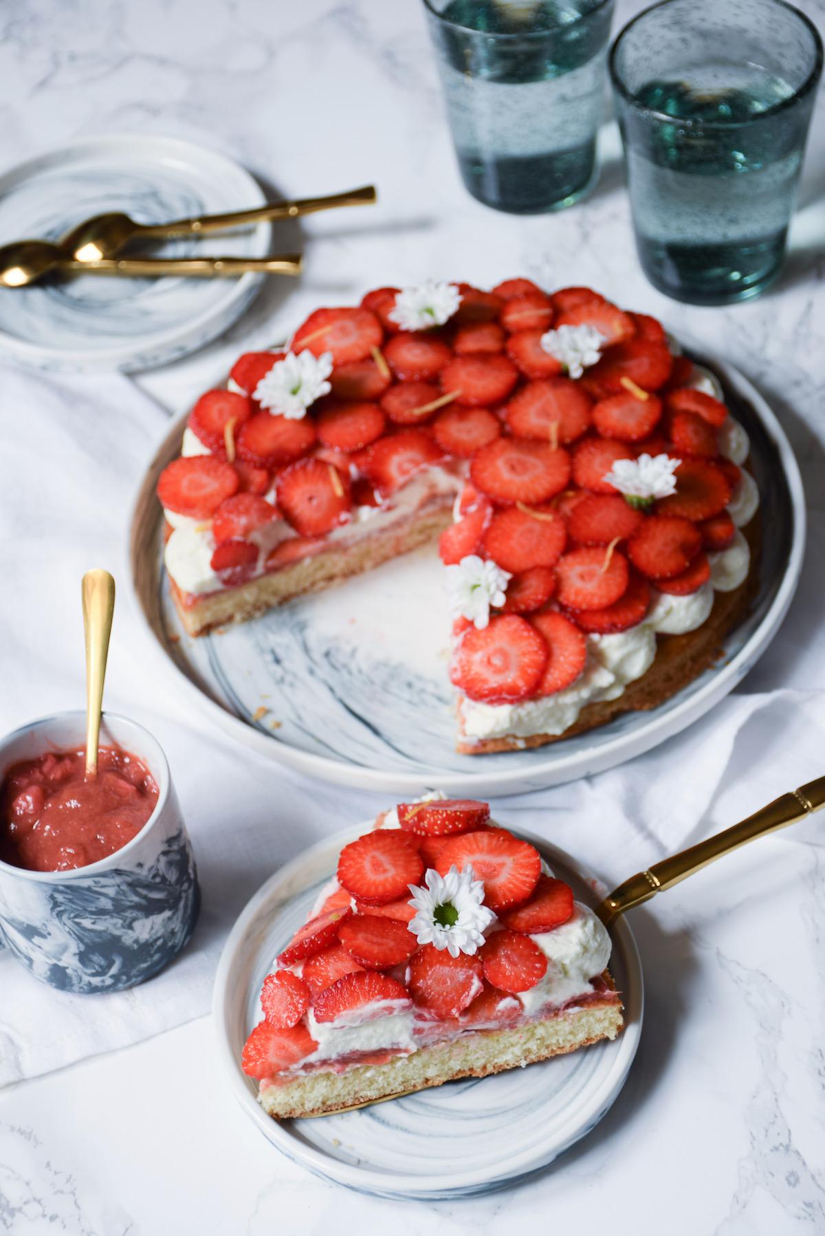 Tarte briochée aux fraises